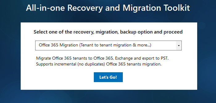 Office 365 Migration tool